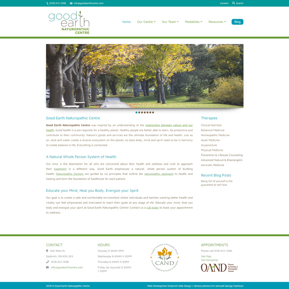 Good Earth Naturopathic Centre Goderich